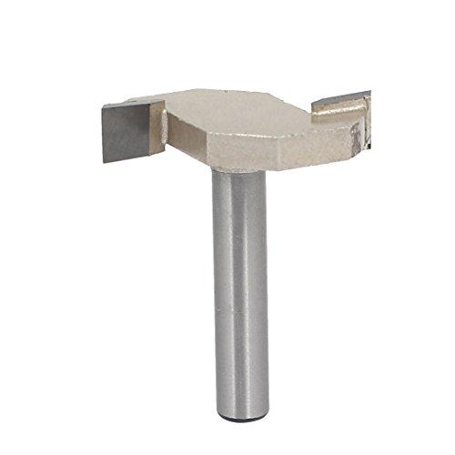 uxcell 14-inch Shank 14-inch Cutting Depth 2-Flute T-Slot Undercut Router Bit Cutter