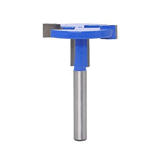 Bestgle 14 Shank T-Slot Router Bit Carbide Wood Milling Cutter T-Track Woodworking Drill Bit Tool Blue