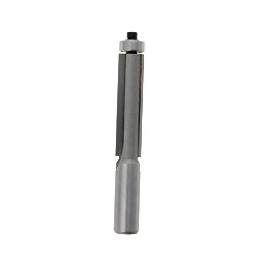 Utoolmart Straight Shank End Bearing Flush Trim Router Bit 12x12x2 Inch Cutter Metal Bit For Carpenter Silver 1pc