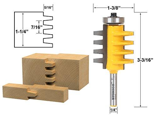 Yonico 15131q Reversible Finger Glue Joint Router Bit 14