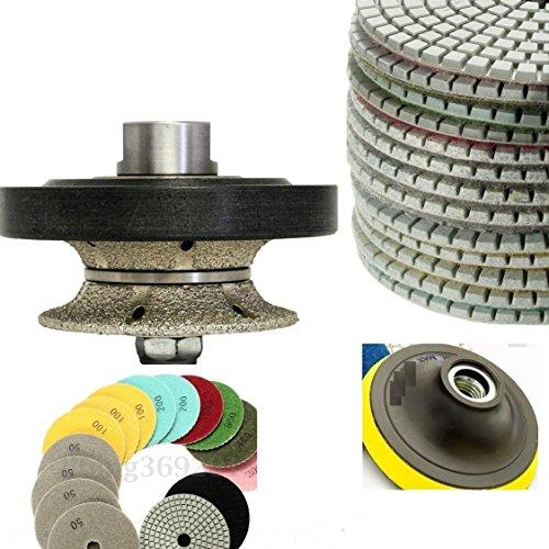 1 Inch 25mm Full Bullnose Diamond Router Bit Hand Profiler Diamond Polishing Pads 4 inch WetDry Set of 111 Granite Concrete Priority Shipping Marble Travertine