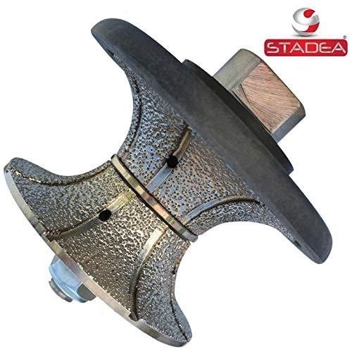 Stadea Diamond Router Bit Granite Diamond Profile Wheel - Full Bullnose Half Round Countertop Edge Profile Router Bits V40 for Granite Stone Concrete Counter Edges