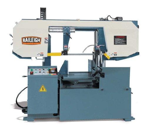 Baileigh BS-360SA Semi-Automatic Column Horizontal Band Saw 3-Phase 220V 5hp Motor 66-279 fpm Speed