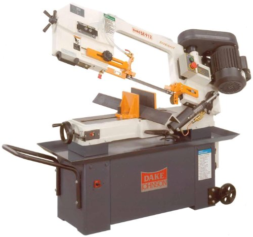 Dake SE-912 Model Standard Duty Horizontal Band Saw 120V 1 Phase 56 Length x 21 Width x 41 Height with Stand