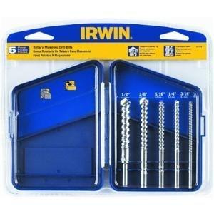 Irwin Tools 61170 Tungsten Carbide Masonry Drill Bit Set 5 Piece by IRWIN