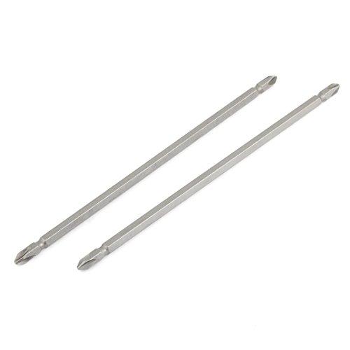2 Pcs Magnetic Tip PH2 Phillips Double End Screwdriver Bits 20cm Long