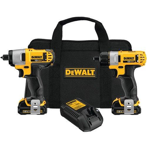DEWALT DCK210S2 12-Volt Max ScrewdriverImpact Driver Combo Kit