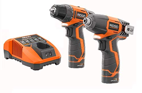 Ridgid 12-volt Hyper Lithium-ion Drilldriver and Impact Driver Combo Kit Renewed