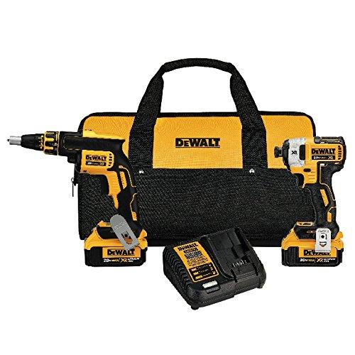 DEWALT 20V MAX XR Drywall Screw Gun Impact Driver Kit 40-Amp Hour DCK267M2