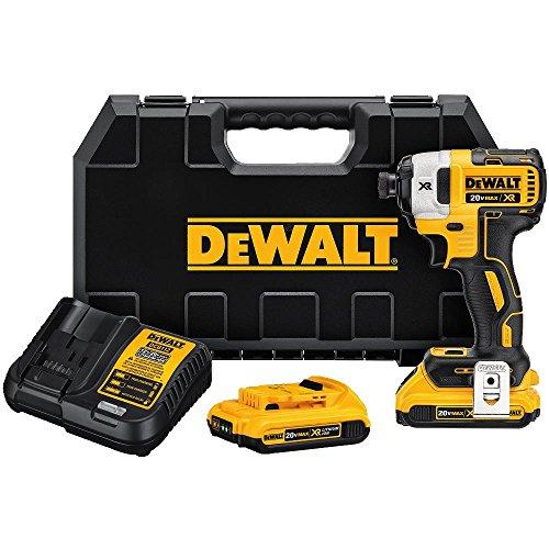 DEWALT 20V MAX XR Impact Driver Kit Brushless 3-Speed 14-Inch 20-Ah DCF887D2