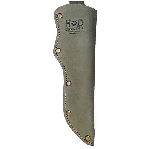 Hide Drink Thick Leather Mora Knife Sheath wBelt Loop Handmade Includes 101 Year Warranty  Peat Moss