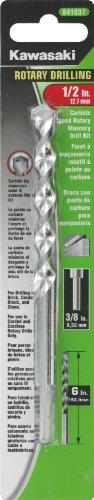 Kawasaki 841037 12-Inch Rotary Fast Spiral Masonry Drill Bit