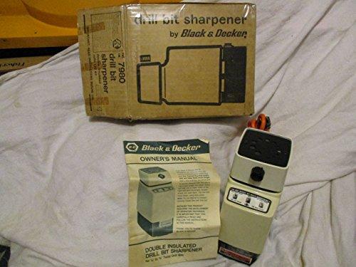 Black Decker Electric Drill Bit Sharpener Model 7980 Vintage