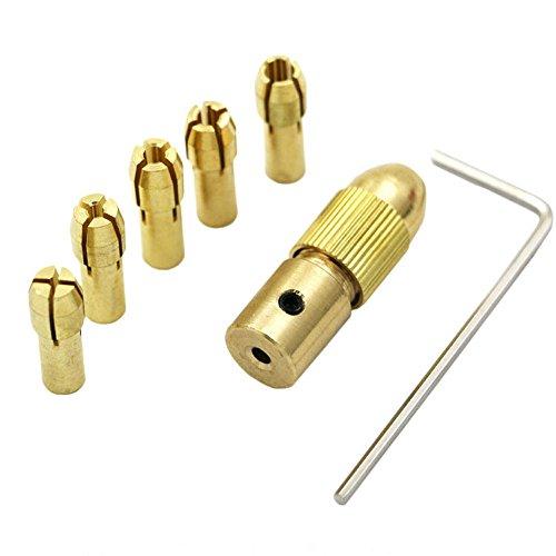 Lautechco 5PcsSet 05-3mm Small Electric Drill Bit Collet Micro Twist Drill Chuck Set Tool 317mm