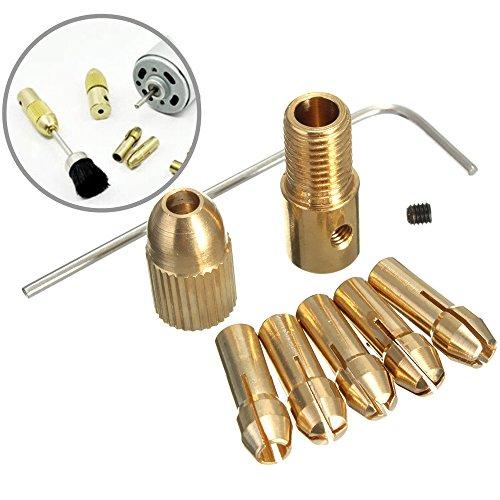 Lelinta 8Pcs 05-3mm Small Electric Drill Bit Collet Micro Twist Drill Chuck Set Tool