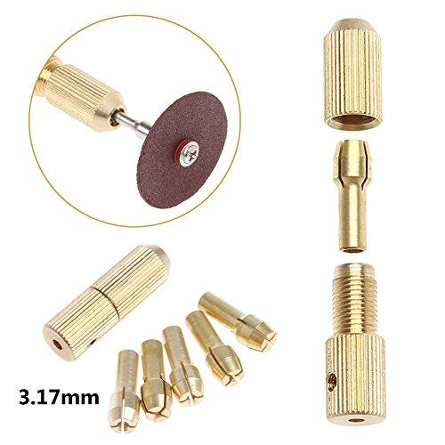 SCASTOE 5Pcs 05-30mm Micro Twist Hand Drill Kit Chuck Electric Drill Bit Collet 317mm