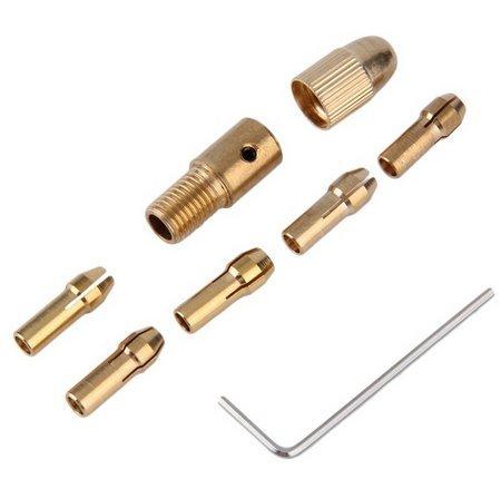 centstar 05-3mm Small Electric Drill Bit Collet Micro Twist Drill Chuck Set
