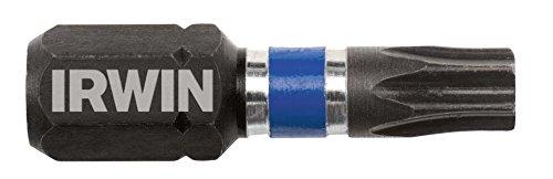 IRWIN 1899946 Impact Performance Series Screwdriver Insert Bit T25 Torx 1-Inch 20-Pack