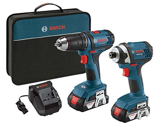 Bosch CLPK26-181 18V 2-Tool Kit 12-Inch DrillDriver 14-Inch Hex Impact Driver