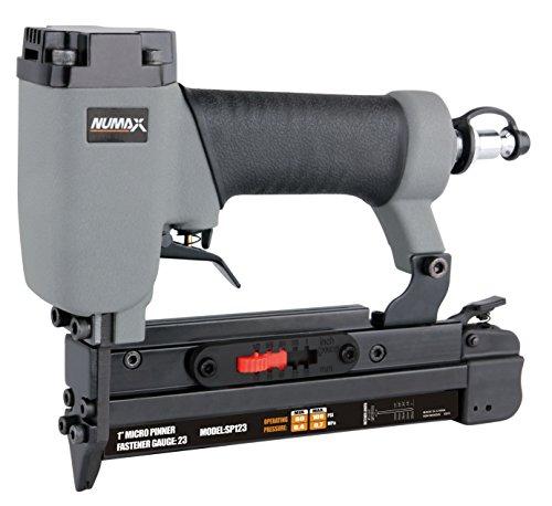 NuMax SP123 Pneumatic 23 Gauge 1 Micro Pin Nailer Ergonomic and Lightweight Pin Nail Gun with Pin Size Selector and Safety Trigger