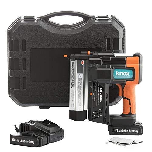 Knox Cordless 18V Li-Ion 2-Inch 18-Gauge Brad Nailer Stapler w 2 Batteries