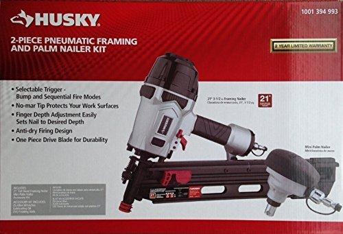 Husky Pneumatic 21° Framing and Mini Palm Nailer Kit by Husky