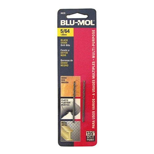 Disston E0101039 Carded Blu-Mol Black Oxide Jobber Drill Bits Diameter 564-Inch Sold In Cards 2 UnitsCard