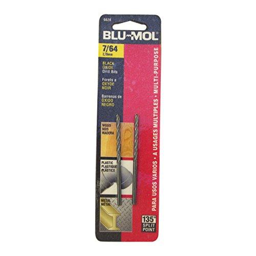 Disston E0101041 Carded Blu-Mol Black Oxide Jobber Drill Bits Diameter 764-Inch Sold In Cards 2 UnitsCard