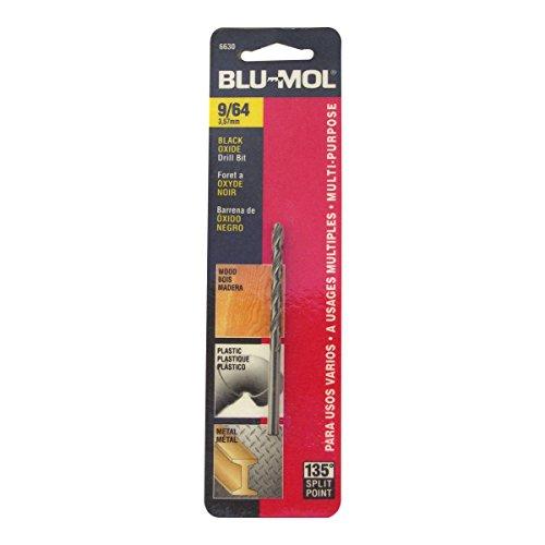 Disston E0101043 Carded Blu-Mol Black Oxide Jobber Drill Bits Diameter 964-Inch