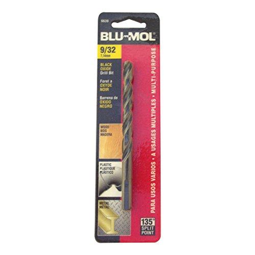 Disston E0101052 Carded Blu-Mol Black Oxide Jobber Drill Bits Diameter 932-Inch