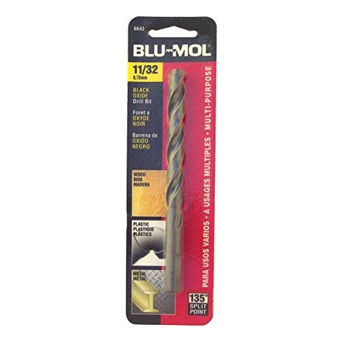 Disston E0101056 Carded Blu-Mol Black Oxide Jobber Drill Bits Diameter 1132-Inch