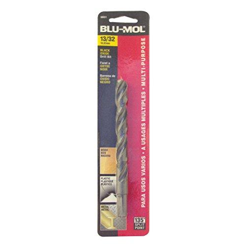 Disston E0101060 Carded Blu-Mol Black Oxide Jobber Drill Bits Diameter 1332-Inch