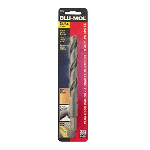 Disston E0101065 Carded Blu-Mol Black Oxide Jobber Drill Bits Diameter 3164-Inch