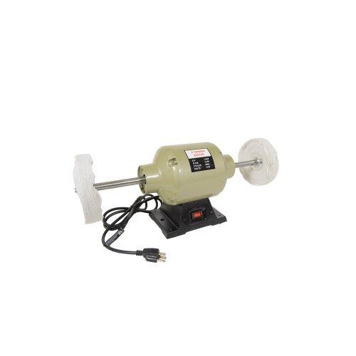 6 3450 RPM Bench Grinder Long Shaft Buffer Polisher Grinding Wheel Work Bench Buffing Wheel