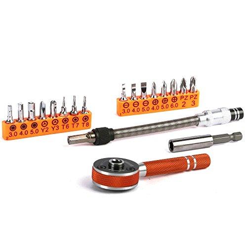 Jakemy JM-6119 19 in 1 Multipurpose Precision Screwdriver Ratchet Repair Tools Sets for Furniture Repair