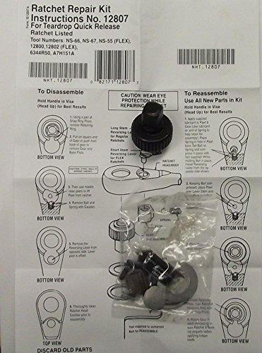 Socket Sets Allen 12 Drive Ratchet Repair Kit Teardrop Quick Release 12807 1 KIT USA