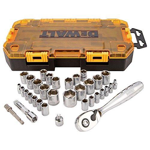 DEWALT DWMT73804 Socket Set 38-Inch Drive SAEMetric 34-Piece