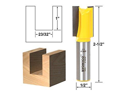 Yonico 14924 2332-Inch Undersized Plywood Straight Dado Router Bit 12-Inch Shank