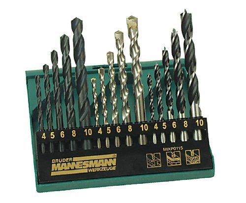 Mannesmann 54315 Pro Combi Drill Bit Set 15 Piece by Mannesmann