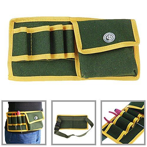 SCASTOE Canvas Tool Pouch Holder Electrician Mechanics Waist Pack Belt Work Holder Bag