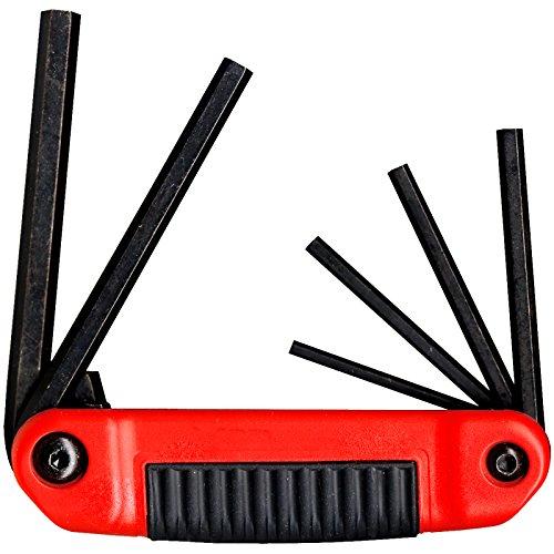 EKLIND 25611 Ergo-Fold Fold-up Hex Key allen wrench - 6pc set SAE Inch Sizes 532-38