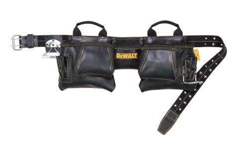 DEWALT DG5472 12-Pocket Carpenters Top Grain Leather Apron