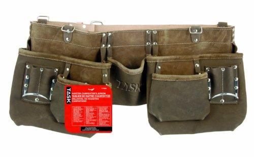 Task Tools T77356 Master Carpenters Apron with 2 Oversized-Pocket 11-Pocket