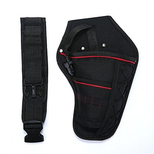 niceEshopTM Portable Electrician Tool Waist Belt Pouch Bag Impact Driver Drill HolsterBlackcanvas30¡Á19cm
