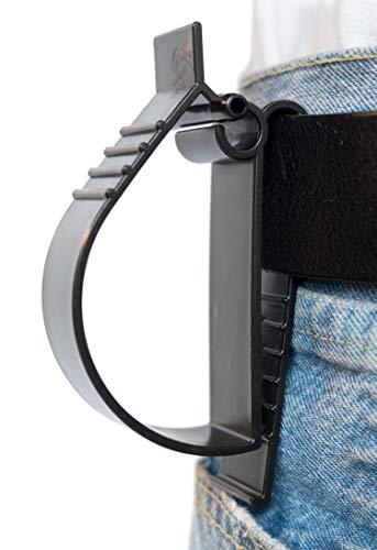 Hard Hat Belt Clip Glove Utility Belt Clip Hearing Protection Belt Clip Hard Hat Grabber - Belt Hanger Clip 1pack Black