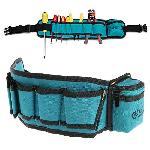 Lergo Multi-Pockets Waist Utility Belt Storage Bag Screwdriver Tools Organizer Carry Case A