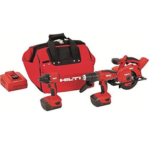 Hilti 3487026 18-Volt Lithium-Ion Cordless Hammer Drill DriverImpact DriverCircular Saw Combo Kit
