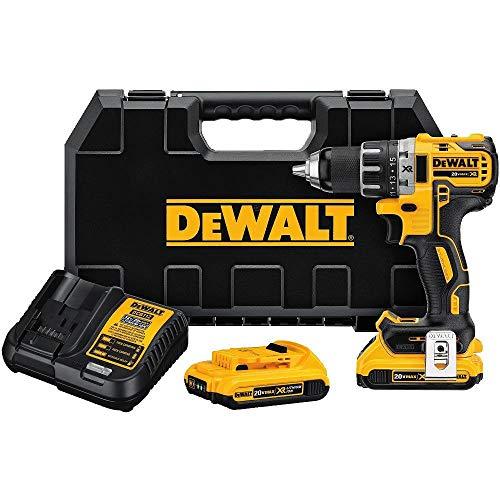 DEWALT DCD791D2R 20V MAX XR Li-Ion Brushless Compact Drill  Driver Kit Renewed