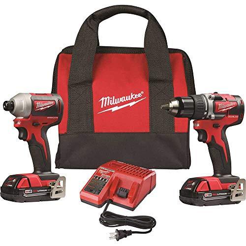Milwaukee 2892-22CT M18 Compact Brushless 2-Tool Combo Kit Drill DriverImpact Driver