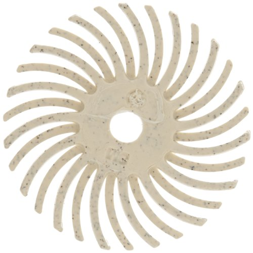 Scotch-BriteTM Radial Bristle Disc Thin Bristle 35000 rpm 1 Diameter 120 Grit White Pack of 24